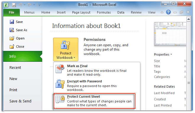 Where Is Protect Sheet Command In Excel 2007 2010 2013 2016 2019 And 365